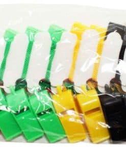 Whistle Plastic W/Cord 24's