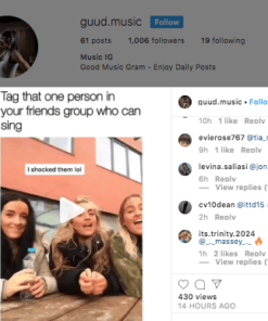 Real Instagram Account engagement for sale