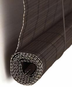 Kwalitatief hoogwaardig donkerbruin bamboe rolgordijn