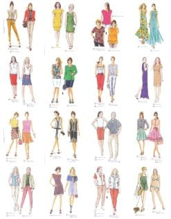 Sewing patterns from season spring summer 2012