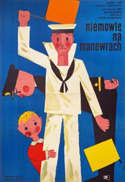 """Plakat filmowy """"Niemowlę na manewrach"""" Maciej Hibner"""