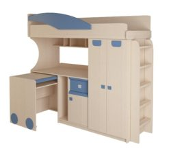 Детская № 4.4.2 + выкатной стол + лестница №2 (синий) 2