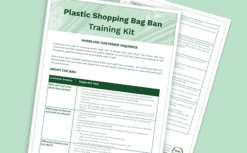 nz plastic bag ban training kit for retailers takeaways by green business hq