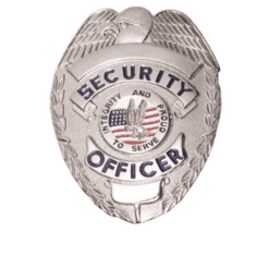Security Officer Silver Shield Badge