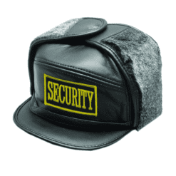 Security Winter Trapper Hats with Emblem in Yellow