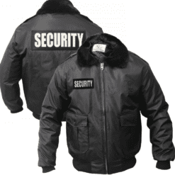 Black Watch Guard Bomber Jacket with Reflective Security ID