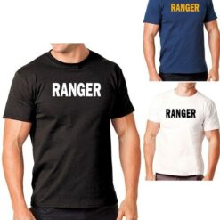 Hanes Tagless 5250 Comfortsoft Cotton T-Shirt with Ranger ID Black Navy Blue White