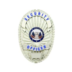Security Officer Shield Badge Silver