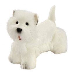 Perro West Highland blanco de peluche