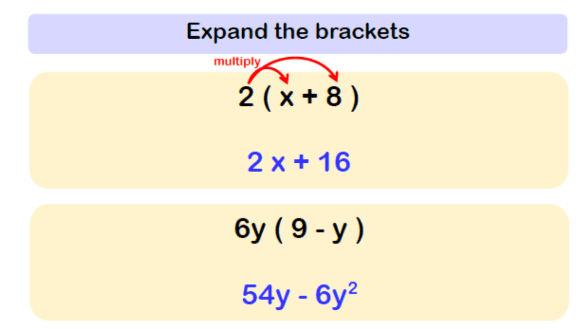 Expanding Brackets Worksheet Example 1