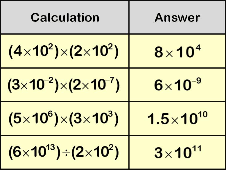 Standard Form Calculation Question 1