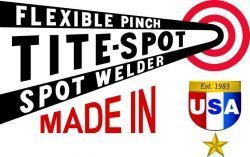 "Logo with ""Made in USA"" for spot welding equipment made in America"