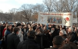 Orthodox Christian Delegation at Annual March for Life in Washington - January 23, 2012