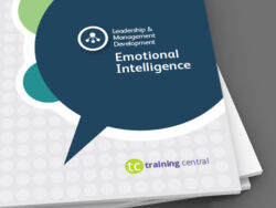 Image shows the cover of the workbook for Training Central's Emotional Intelligence training materials.