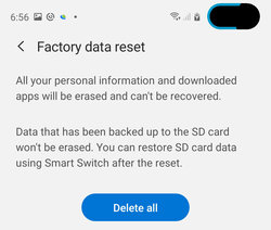 galaxy s10 can't send text messages factory reset