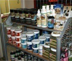 A shops shelves full of supplements