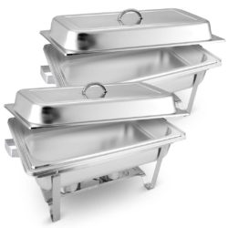 SOGA 2X 9L Stainless Steel Chafing Food Warmer Catering Dish Full Size