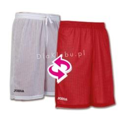Spodenki koszykarskie JOMA Rookie czerwone i białe