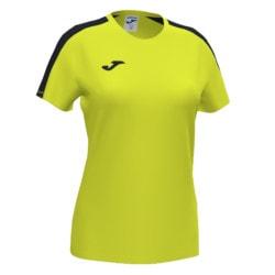 Koszulka sportowa damska Joma Academy III fluo żółto czarna 901141.061