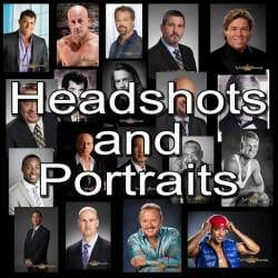 composite image of men's headshots and portraits