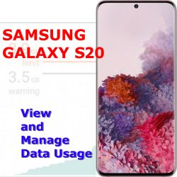 how to manage data usage galaxy s20