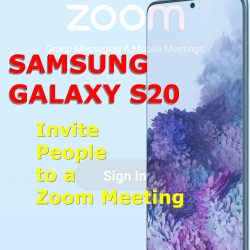 invite people to a zoom meeting galaxy s20
