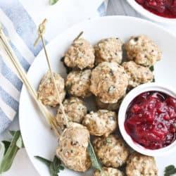 Instant Pot Turkey Meatballs with Cranberry Jalapeno Sauce