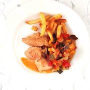 Dusené ratatouille s kuracím mäsom