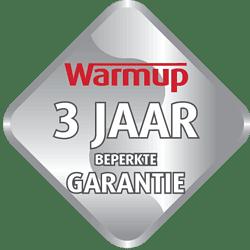 3 jaar garantie op de elektrische vloerverwarming thermostaten van Warmup