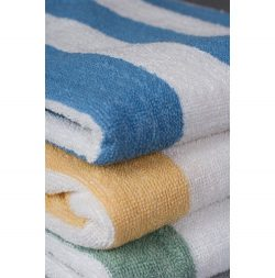 Cabana Stripe Beach Towels -Economy VAT Dyed
