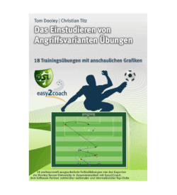 Angriffsvarianten im Fußball - Fussballübungen für dein Fußballtraining - Das Einstudieren von Angriffsvarianten Übungen - Paket 18 - 1