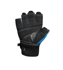 Black and blue Lifetech Elite Wrist Wrap inside view shown in white background
