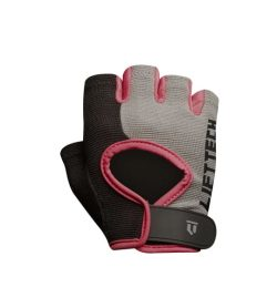 Black and pink Lifetech Elite women's Wrist Wrap outside view shown in white background