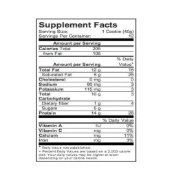 Supplement facts panel of Power Crunch Protein Energy Bar 1 box
