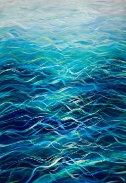 """Turquoise Sea III"" by Devon based artist Catherine Kennedy Original Oil on canvas turquoise seascape painting 70 x 100cm £395"