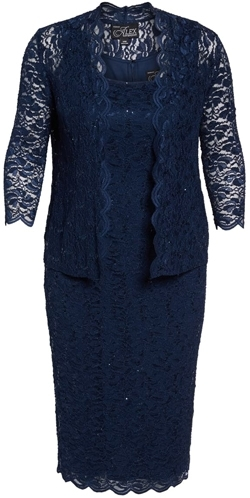 Alex Evenings lace dress and jacket | 40plusstyle.com