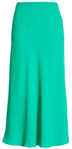 Halogen bias cut a-line midi skirt | 40plusstyle.com