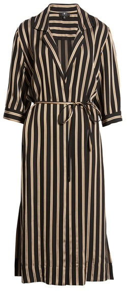 7 For All Mankind maxi shirtdress | 40plusstyle.com