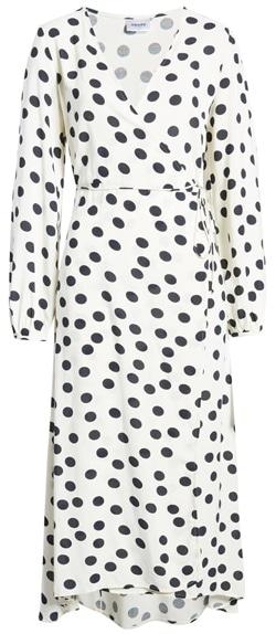 VERO MODA midi wrap dress | 40plusstyle.com