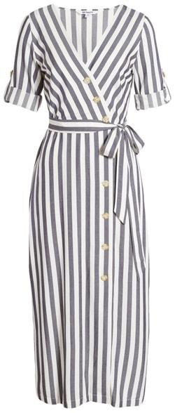 BB Dakota stripe midi dress | 40plusstyle.com