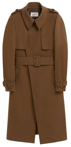 SUISTUDIO Dwight Stretch Cotton Trench Coat | 40plusstyle.com