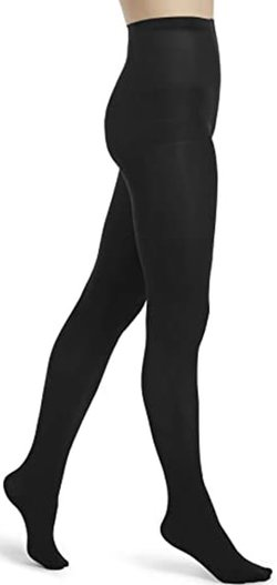 HUE opaque tights with control top | 40plusstyle.com