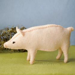 felt pig sewing pattern