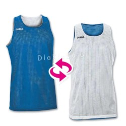 Koszulki koszykarskie JOMA Aro biała i niebieska