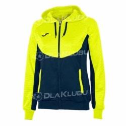 Bluza z kapturem damska JOMA Essential żółta fluo/czarna