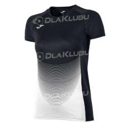 Koszulka siatkarska z krótkim rękawem damska JOMA Elite IV czarno-biała