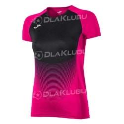 Koszulka siatkarska z krótkim rękawem damska JOMA Elite IV różowo-czarna