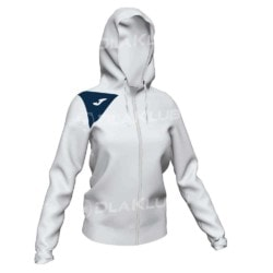 Bluza dresowa damska JOMA Spike II biało granatowa