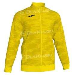 Bluza dresowa zapinana JOMA Grafity żółta