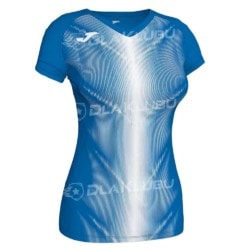 Koszulka biegowa damska JOMA Olimpia niebiesko biała